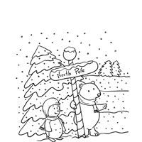 north pole coloring page