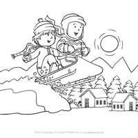 9 Winter Coloring Pages Print Winter Pictures to Color All