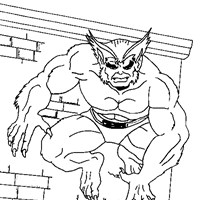 x men beast coloring page