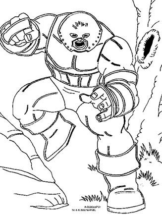 X Men Coloring Page X Men Juggernaut All Kids Network