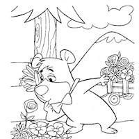 boo boo coloring page