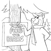 feed the bears coloring page
