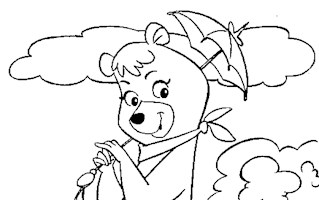 yogi bear girl coloring page