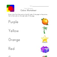 preschool colors sheet