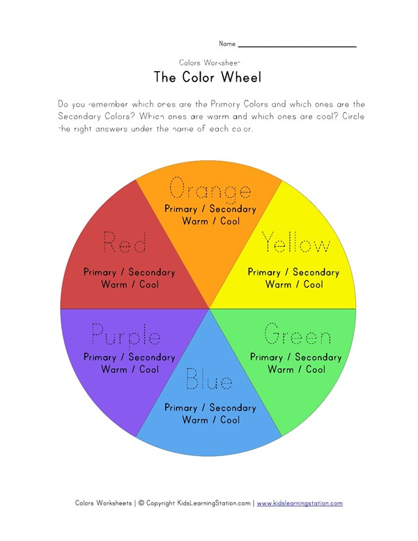 image relating to Printable Color Wheel Worksheet named Shade Wheel Worksheet All Little ones Community