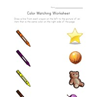 colors matching worksheet
