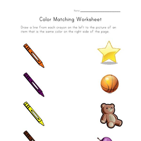 colors matching worksheet all kids network. Black Bedroom Furniture Sets. Home Design Ideas