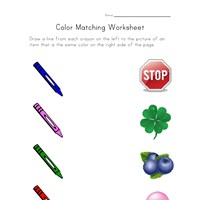 match colors worksheet