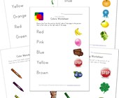 color matching worksheets