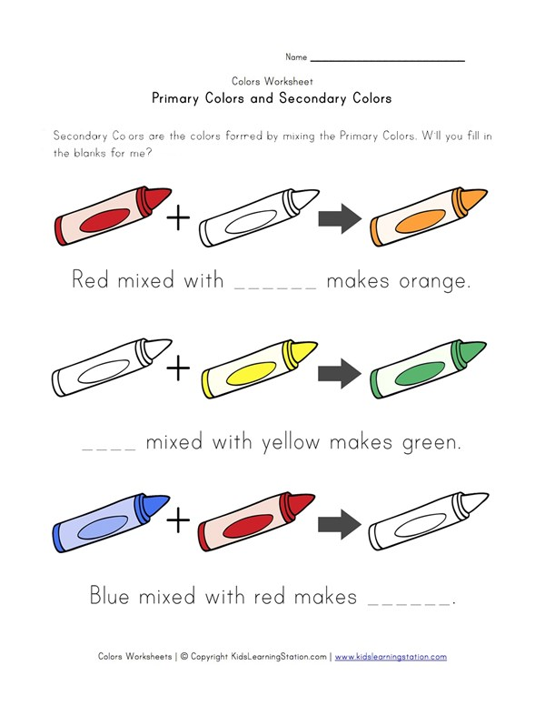 primary secondary colors worksheet preschool primary best free printable worksheets. Black Bedroom Furniture Sets. Home Design Ideas