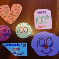 100 Day Celebration Lick and Stick Stickers
