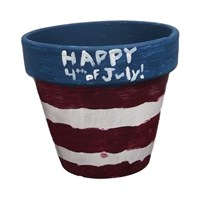 4th of July Flower Pot