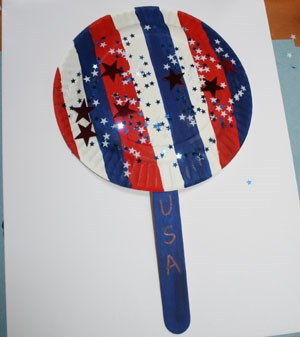 Red White and Blue Fan Craft