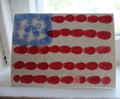 Patriotic Fingerprint Flag Card