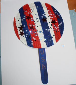 kids usa fan craft
