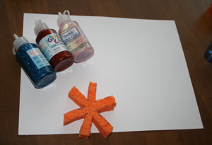sponge paint fireworks craft