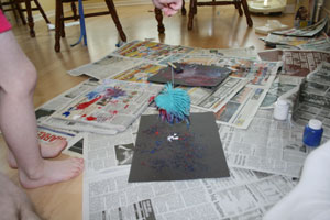 paint with koosh ball