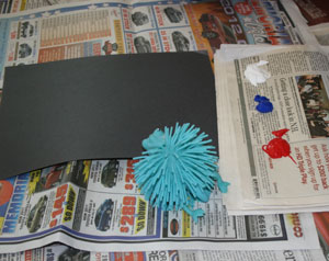 koosh ball fireworks-materials