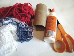 patriotic windsock craft materials