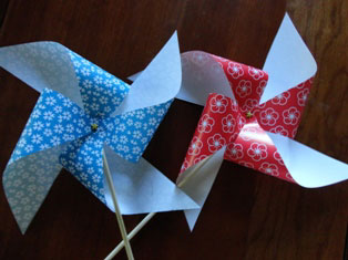 patriotic pinwheels craft
