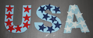 kids USA magnets craft
