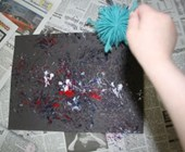 Koosh Ball Fireworks Craft