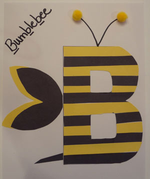 letter b bumblebee craft