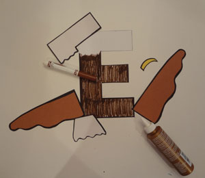 letter e craft eagle
