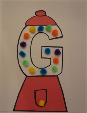 letter g gumball template  Letter G Craft - Gumball Machine | All Kids Network