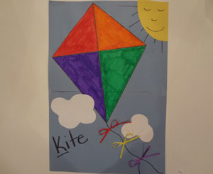 Letter k kite craft all kids network spiritdancerdesigns Choice Image