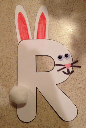 letter r rabbit craft