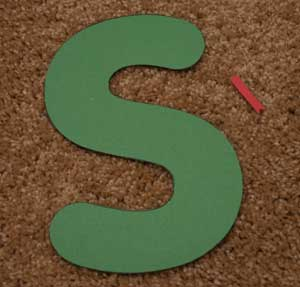 letter s snake craft materials
