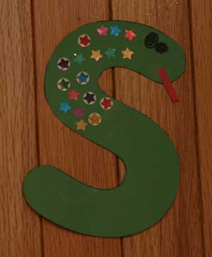 letter s toddler craft