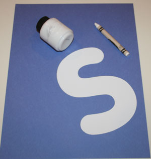 letter s snow craft materials