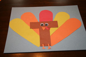 letter t turkey craft