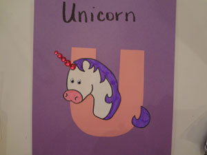 letter u unicorn craft