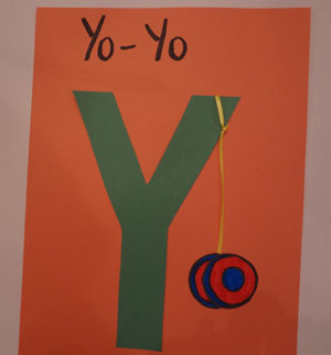 letter Y yo-yo craft