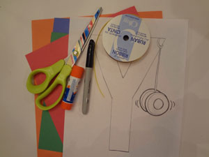 letter Y yo-yo craft materials