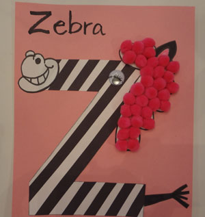 letter Z zebra craft