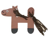 Letter H Horse Craft