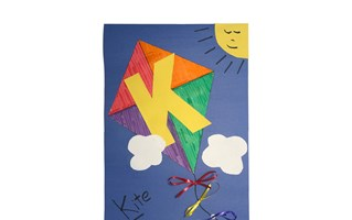Letter K Kite Craft