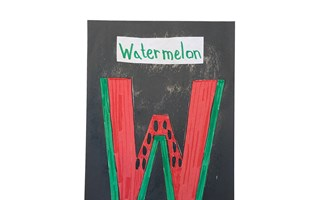 Letter W Watermelon Craft