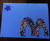 Monogram Letter Card Craft