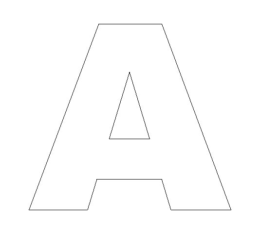 Letter A Template