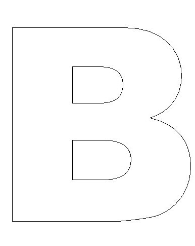 Letter B Template