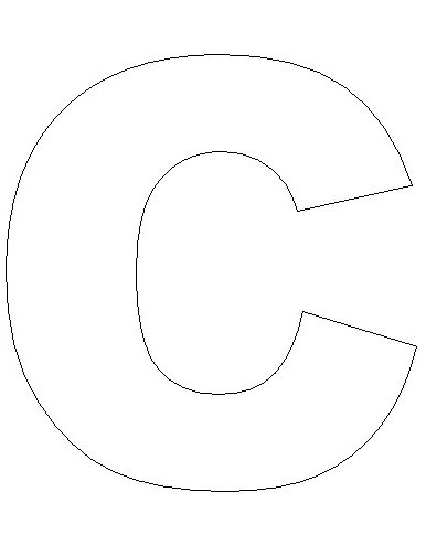 Letter C Template