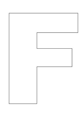 Letter F Template