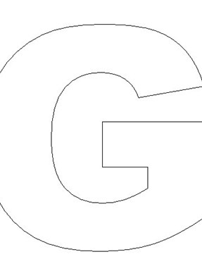 Letter G Template