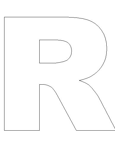 Letter R Template