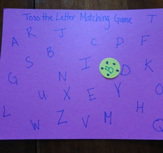 Toss the Letter Matching Game